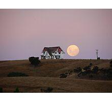 Big ol' house and big ol' moon Photographic Print