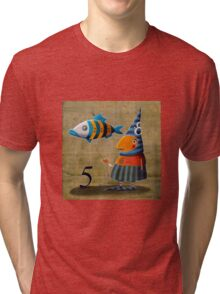The number of the fish Tri-blend T-Shirt