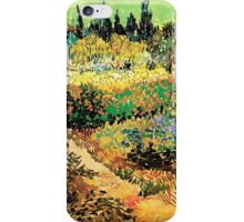 Flowering Garden with Path, Vincent van Gogh iPhone Case/Skin