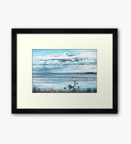 Storm Clouds over Tuggerah Lake Framed Print
