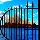 Sydney Opera House Behind Bars by Gus Buckner
