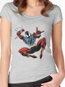 Spider-Man Unlimited - Ben Reilly the Scarlet Spider Women's Fitted Scoop T-Shirt