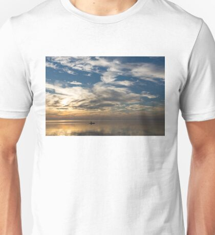 Vast Serenity - a Solo Paddle Through a Morning Smooth as Silk Unisex T-Shirt