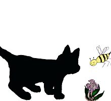 Tinsycat talks to a bee by Initially NO