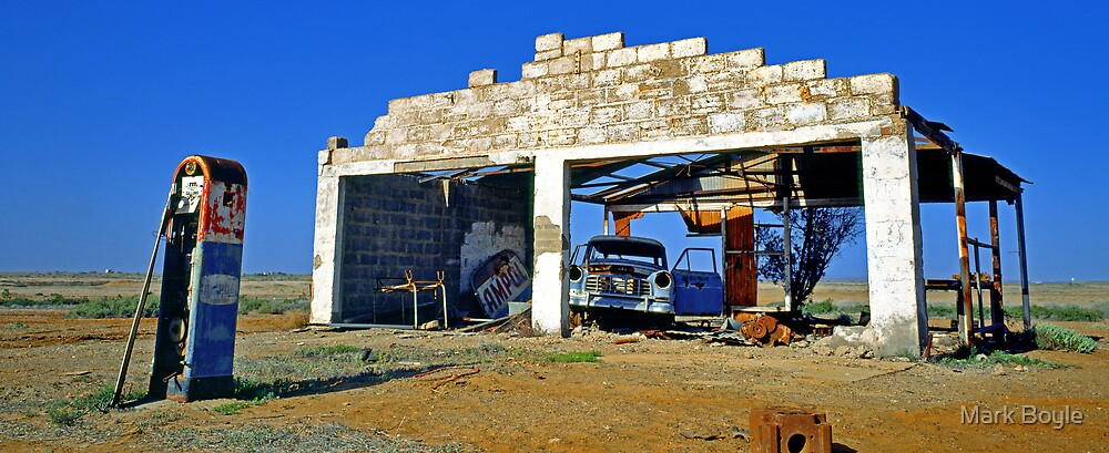 Ghost Station, Maree, South Australia by Mark Boyle