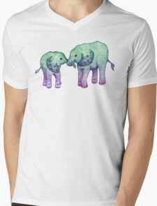 Baby Elephant Love Mens V-Neck T-Shirt