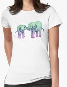 Baby Elephant Love Womens Fitted T-Shirt