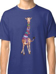 Cold Outside - Cute Giraffe Illustration Classic T-Shirt