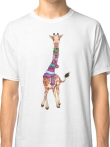 Cold Outside - Cute Giraffe Illustration Classic T-Shirt