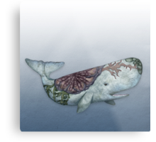 Whale in the Deep Metal Print