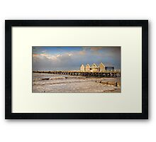 Busselton Jetty at Sunset Framed Print