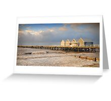 Busselton Jetty at Sunset Greeting Card