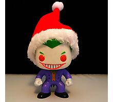 Santa Joker Photographic Print