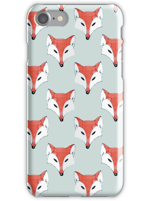 Fox Pattern on Sage  by Perrin Le Feuvre