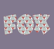Fox Pattern on Sage  Kids Clothes