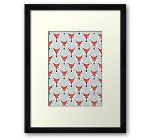 Fox Pattern on Sage  Framed Print