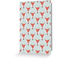 Fox Pattern on Sage  Greeting Card