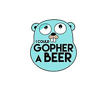 Gopher A Beer Photographic Print