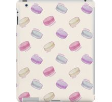 French Macaron Pattern - raspberry, pistachio, lemon & blueberry iPad Case/Skin