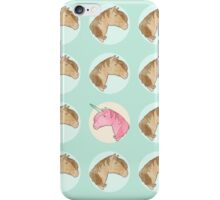 Be Yourself - Unicorn Pattern on Mint iPhone Case/Skin