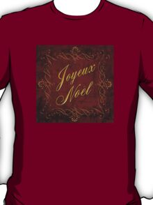 Joyeux Noel In Red And Gold T-Shirt