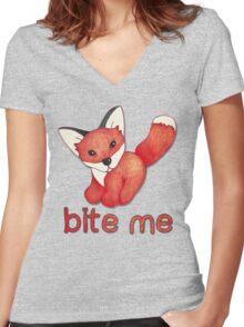 Fox Lattice Women's Fitted V-Neck T-Shirt