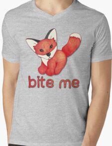 Fox Lattice Mens V-Neck T-Shirt