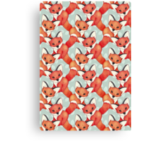 Fox Lattice Canvas Print