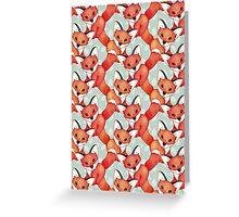 Fox Lattice Greeting Card