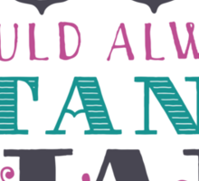 "Emily Dickinson: ""The soul should always stand ajar"" Sticker"