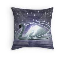 Mystical Swan Throw Pillow