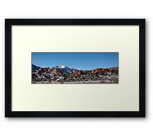 Garden of the Gods and Pikes Peak Framed Print