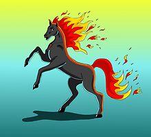 fire Horse by Ann-Julia