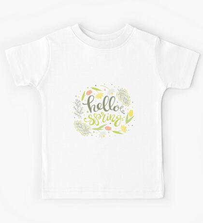 Forest Spring Pattern Kids Tee
