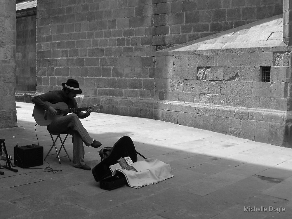Morning Musician - Barcelona by Michelle Doyle