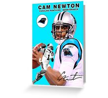 Cam Newton Baseball Card Greeting Card