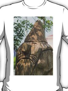 wooden statue in the park T-Shirt