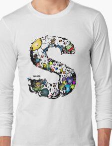 IMOK Letter S Long Sleeve T-Shirt