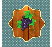 Grapes on a wooden background 2 Photographic Print