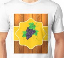 Grapes on a wooden background 3 Unisex T-Shirt