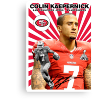 Colin Kaepernick Baseball Card Canvas Print