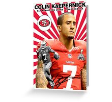 Colin Kaepernick Baseball Card Greeting Card