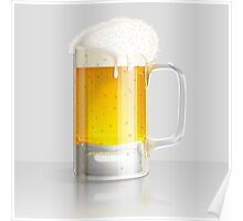 Light beer mug Poster
