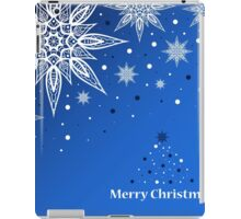 Greeting card with Christmas tree and snowflakes iPad Case/Skin