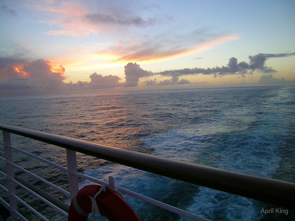 Sunset At Sea Sapphire Princess by April King