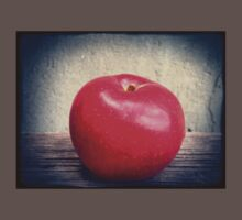 Red apple on grunge background 7 Kids Clothes