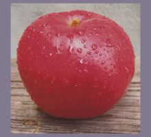 Red apple on grunge background 8 Kids Clothes