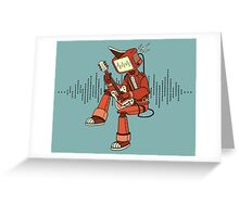 Rock-a-Billy Robot Greeting Card