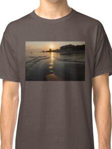 A Golden Path to Summer Fun - Lake Erie Beach Sunset Classic T-Shirt