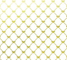Golden French Bee Pattern by phantomprint